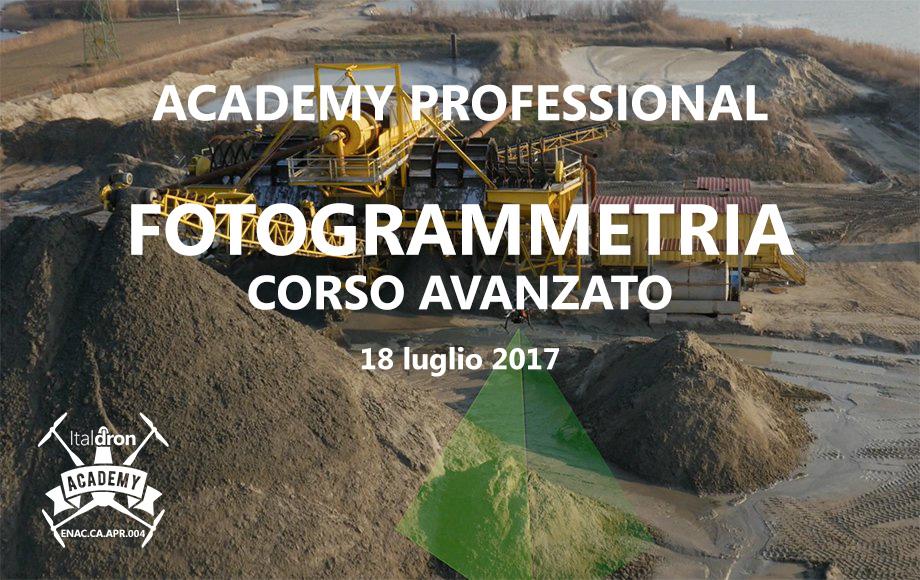 Corso avanzato di Fotogrammetria · 18 luglio 2017
