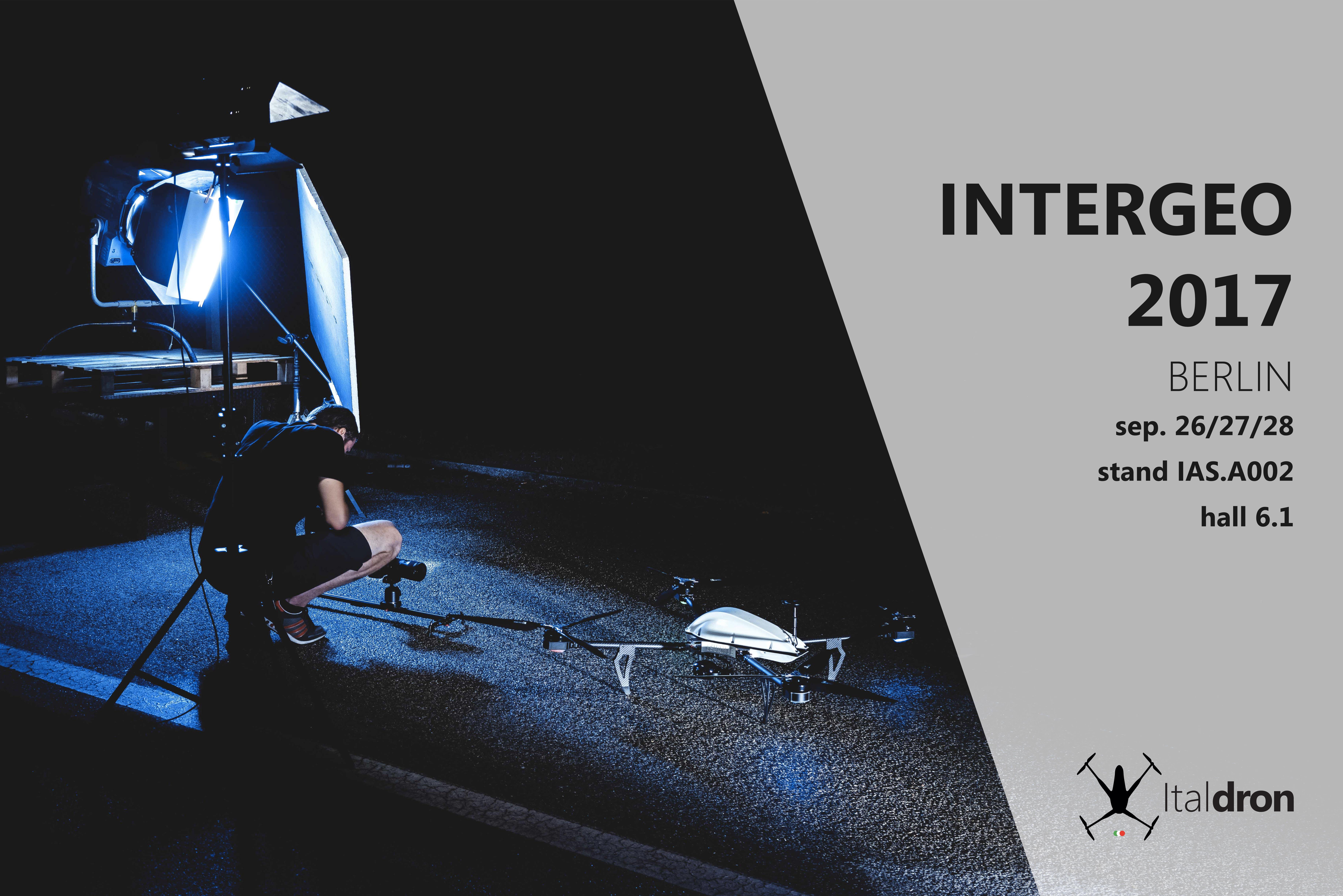 Italdron a Berlino per INTERGEO · 26/27/28 settembre 2017