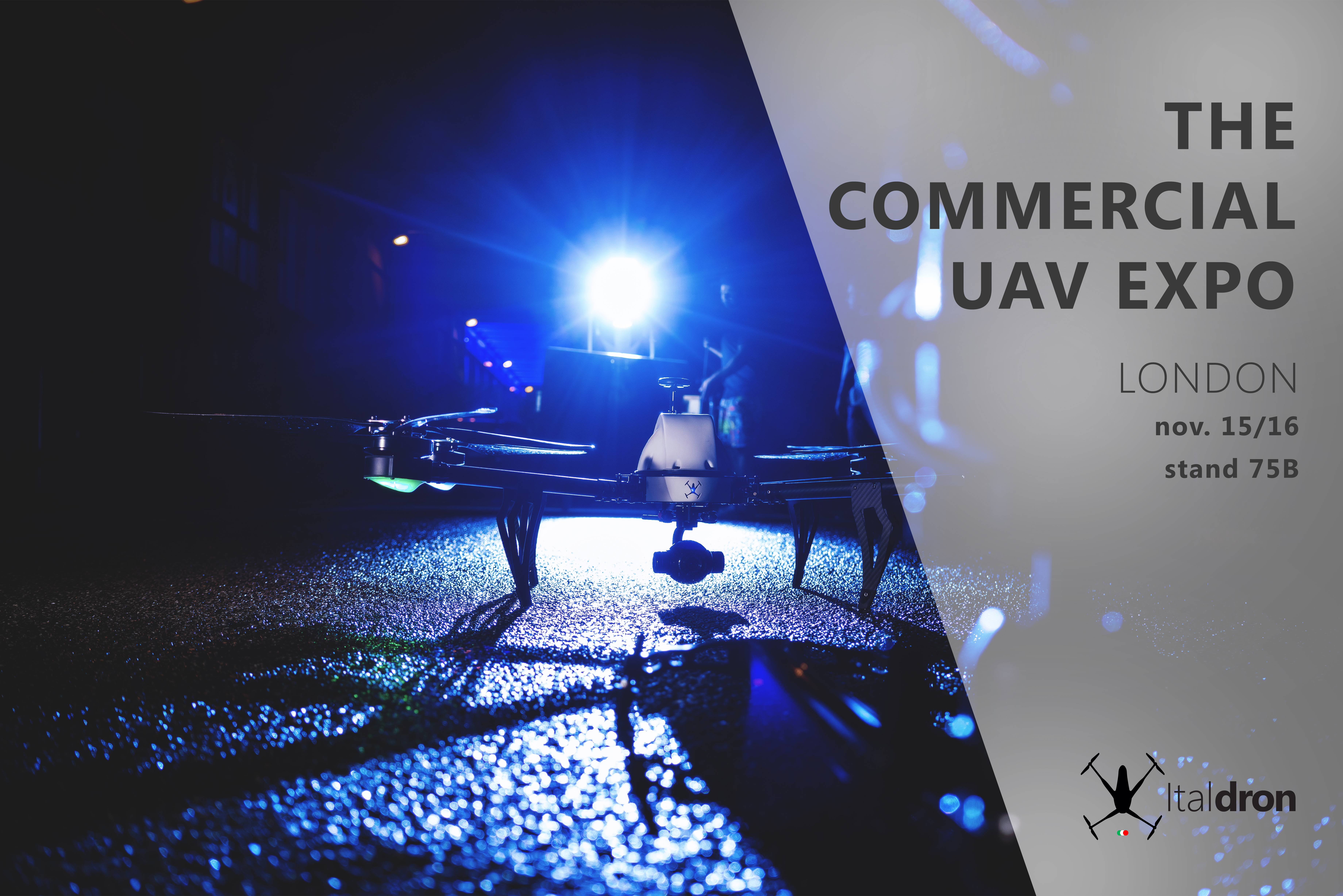 Italdron a Londra per The Commercial UAV Show · 15 e 16 novembre 2017