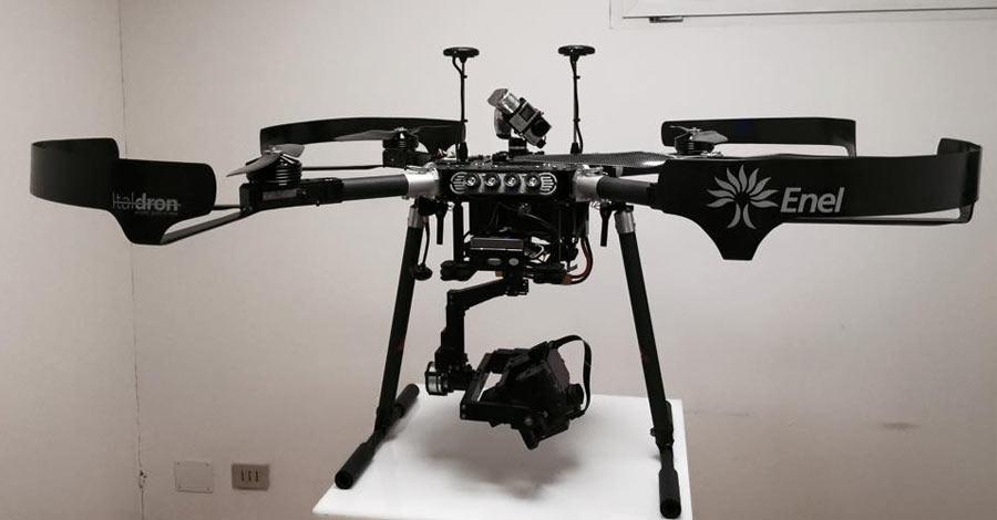 Italdron consegna un Drone al Supporto Tecnico di Generazione Italia Enel