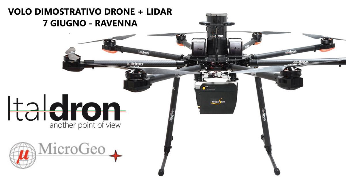 Italdron e MicroGeo il 7 Giugno presenteranno il Drone+Lidar per i professionisti della Geomatica