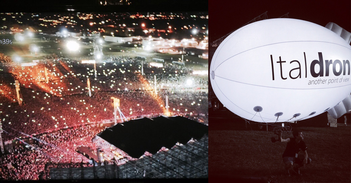 Italdron riprende i 150.000 di Campovolo 2015 con un Drone-Dirigibile