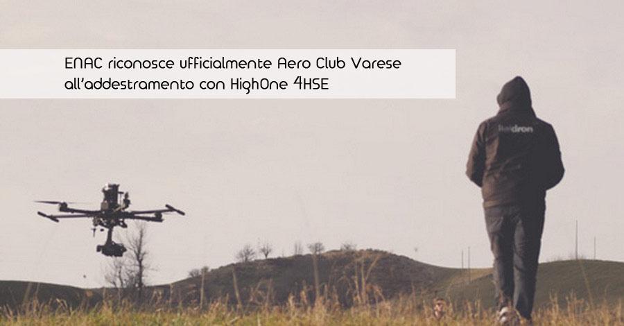 ENAC riconosce ufficialmente Aero Club Varese all'addestramento con HighOne 4HSE