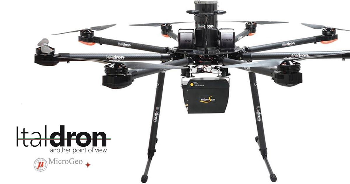 Drone+Lidar: la Joint-Venture fra Italdron e MicroGeo monta il LaserScan su APR