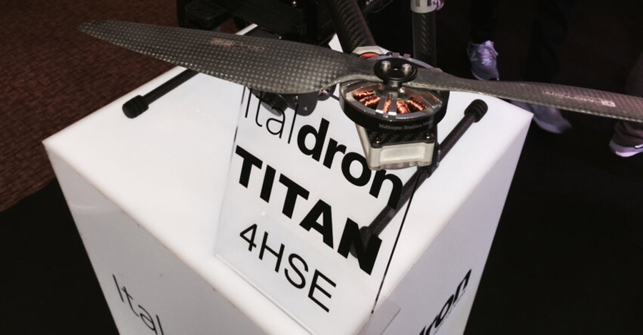 Italdron Titan 4HSE: nuovo quadricottero professionale presentato a Dronitaly