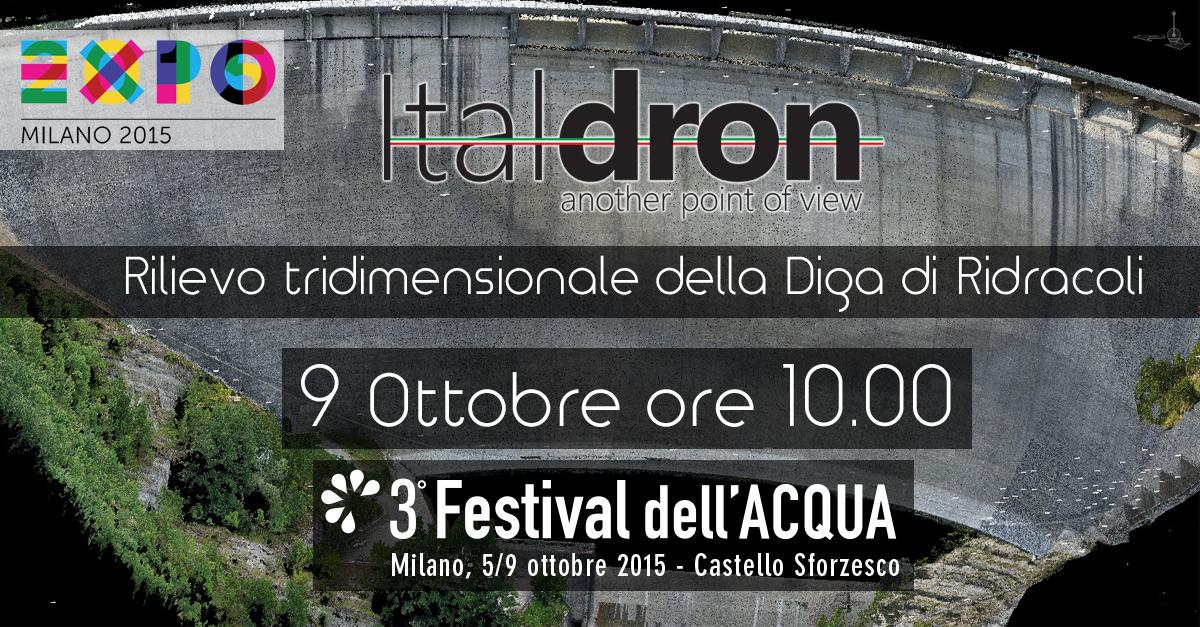 Al Festival dell'Acqua Italdron presenterà il rilievo tridimensionale della Diga di Ridracoli