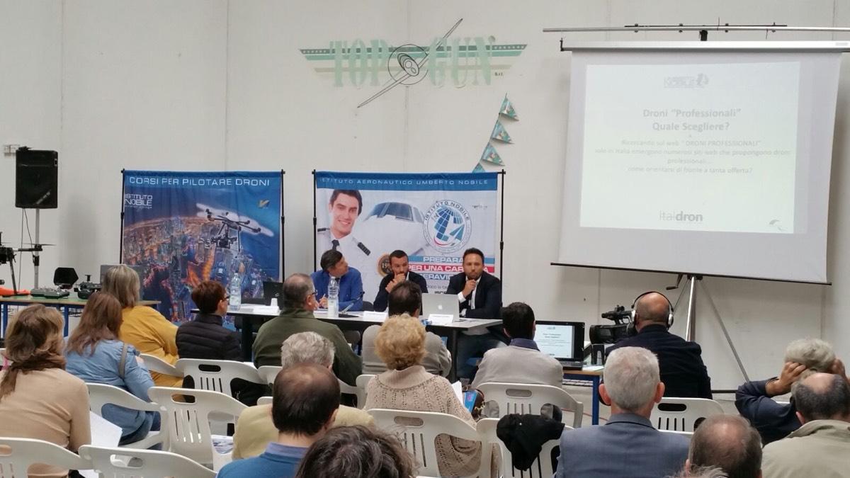 Grande affluenza al convegno sul Drone Journalism all'Istituto Nobile
