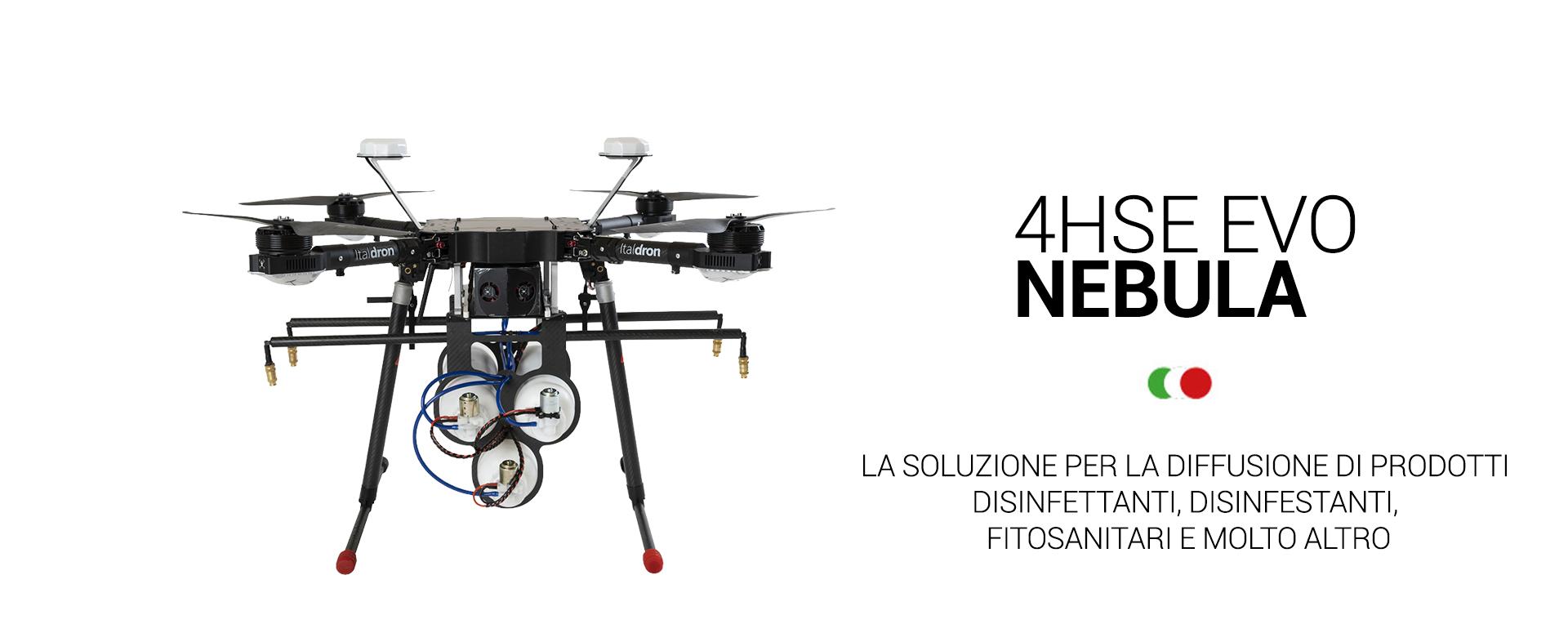 4HSE EVO Nebula: produzione e vendita droni professionali e sistemi apr italiani