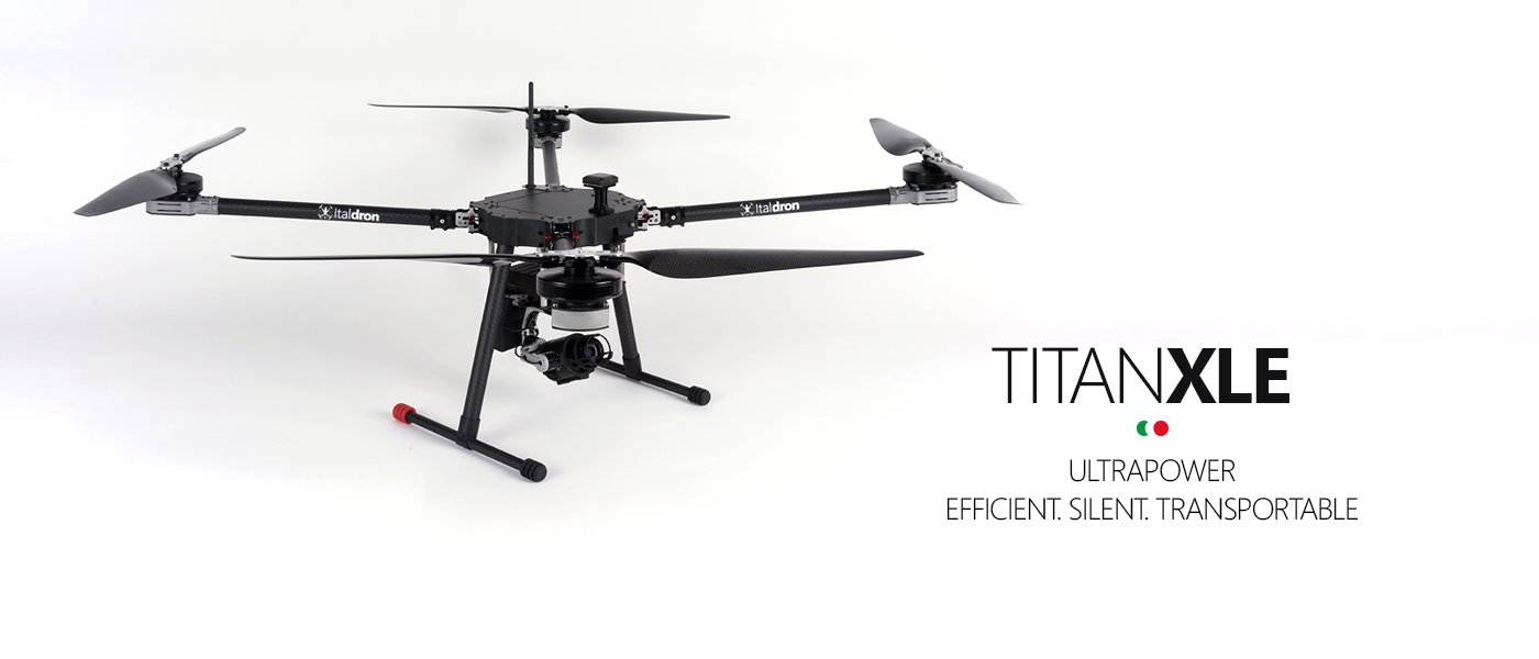 titan XLE italdron: produzione e vendita droni professionali e sistemi apr italiani