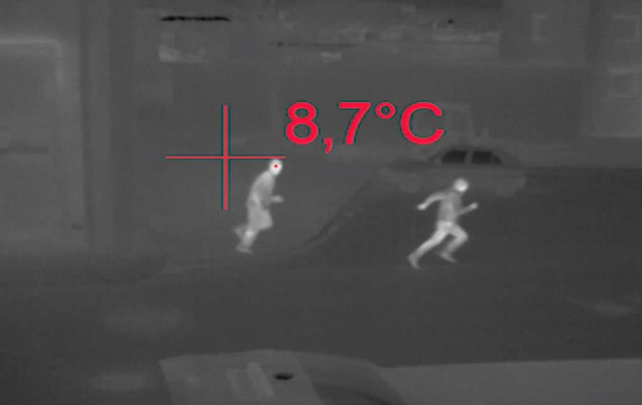 rilevazioni notturne effetuate da droni professionali